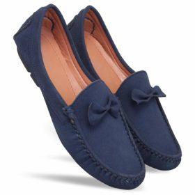 Suttho Men's Velvet Bow Tie Loafers